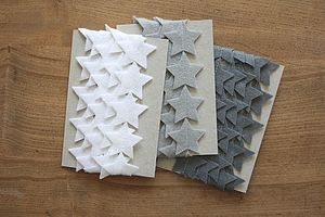 Felt Star Christmas Garland - outdoor decorations
