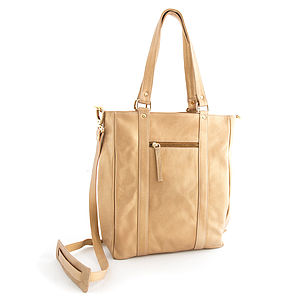Gold Leather Tote - winter sale