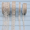 Metallic Crochet Lace Ribbon