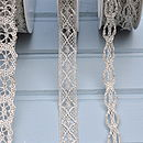 'standard' and 'loop' lace in silver