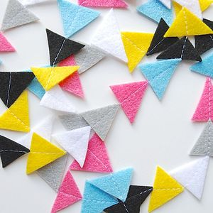 Personalised Triangle Felt Garland - room decorations