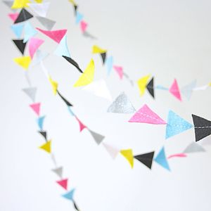 Personalised Triangle Felt Garland - bunting & garlands
