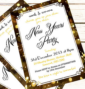 Personalised 'New Years Party' Invitations