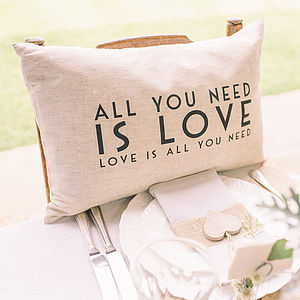 'All You Need Is Love' Cushion - cushions
