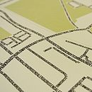 West Dulwich Typographic Street Map