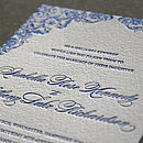 'Charlotte' Letterpress Wedding Stationery