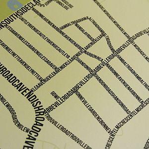 Abbeville Village Typographic Street Map