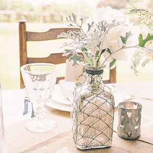 Mercury Silver Glass Bottle - table decorations