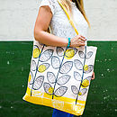 50s Inspired Canvas Shopper Bag