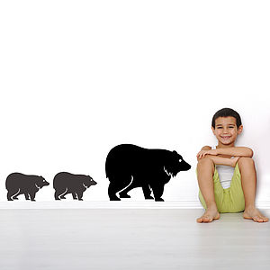 Family Of Bear Wall Stickers