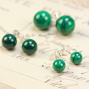 Malachite Earrings - earrings