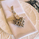 Hanging Grey Willow Heart Small