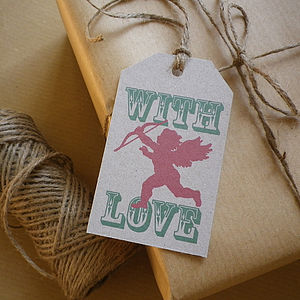 Cherub Recycled Gift Tags - finishing touches