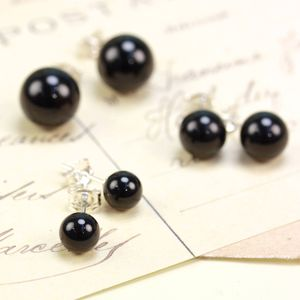 Onyx Earrings - earrings