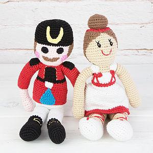 Crochet Ballerina And Nutcracker Toy