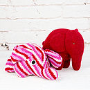 Knitted Pink Elephant Rattle