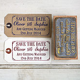 Save The Date Stamp With Border - weddings