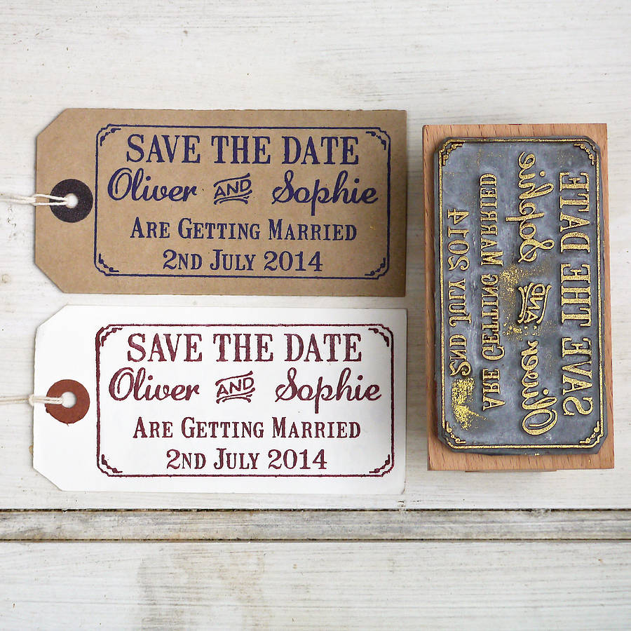 save the date rubber stamp with border wedding stamps save the date wedding stamp with border by english stamp company notonthehighstreet com