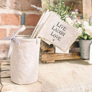 'Live Laugh Love' Paper Flag