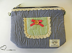 Gingham Cosmetic Bag - wash & toiletry bags