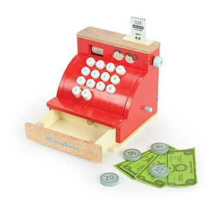Wooden Cash Register - traditional toys & games