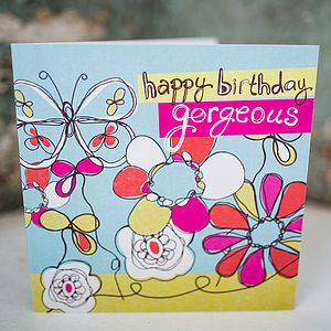 Fun Floral Birthday Card