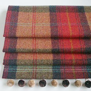 Red Tweed Roman Blind - curtains & blinds