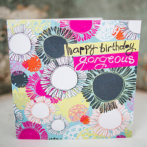 Layered Shapes Birthday Card - gifts