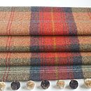 Red Tweed Roman Blind