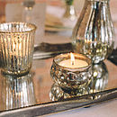 Mini Mercury Silver Tea Light Holder