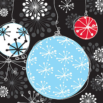 Bauble Magic Christmas Card