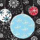 Bauble Magic Christmas Card