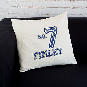 Sports Inspired Personalised Cushion