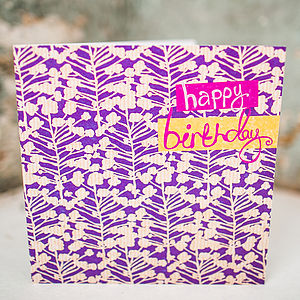 Organic Birthday Card