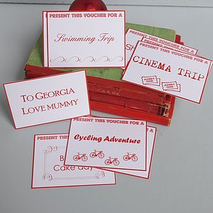 Vouchers For Children - wedding favours