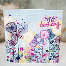 Floral Stems Birthday Card