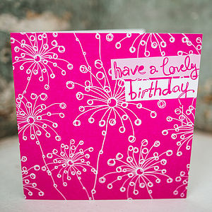 Motifs Birthday Card