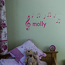 Name With Musical Notes Decal
