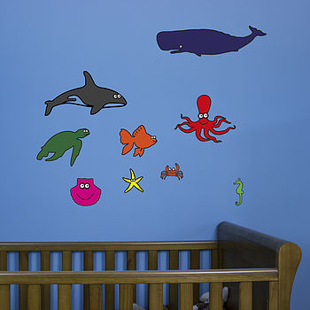 Ocean Creatures Sticker Pack For Kids