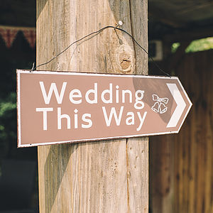 'Wedding This Way' Sign - room decorations