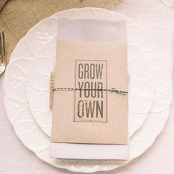 Seed Packets Wedding Favour