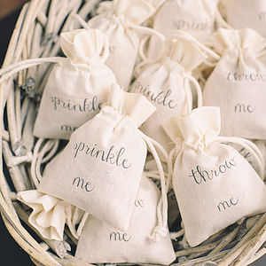 Cotton Bag For Wedding Petal Confetti - confetti, petals & sparklers