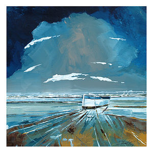 Boat And Sea Canvas Painting - canvas prints & art