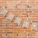 Just Married Hessian / Burlap Bunting