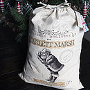 Personalised Santa Sack St. Nick Design