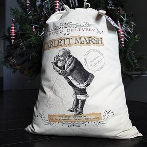 Personalised Santa Sack St. Nick Design - stockings & sacks