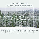 Snowy Trees Self Adhesive Wallpaper