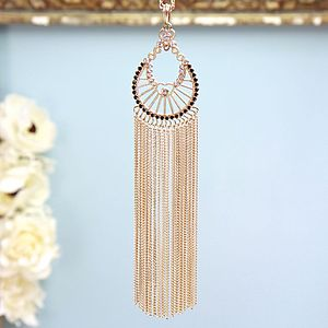 Gold Waterfall Longline Necklace - statement necklaces