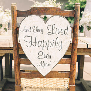 And They Lived Happily Ever After Heart Sign - room decorations