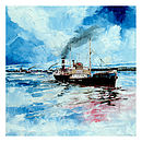Tramp Steamer Canvas Painting
